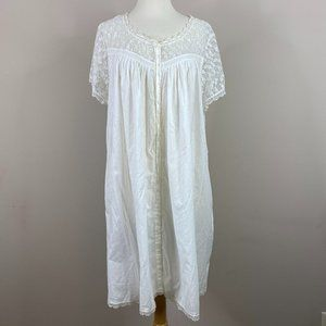 Eileen West White nightgown X-Large New With Tags